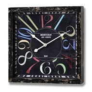 Square  Colourful  Wall  Clock