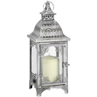Dark  Grey  Moroccan  Floor  Lantern