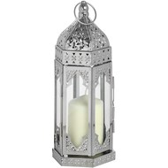 Small  Nickle  Plated  Floor  Lantern
