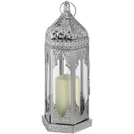 Large  Nickle  Plated  Floor  Lantern