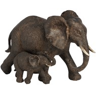 Mother and baby elephant - small