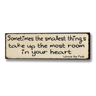 Sometimes  The  Smallest  Things...  Plaque