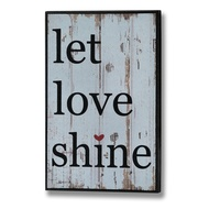 Let  Love  Shine  Plaque