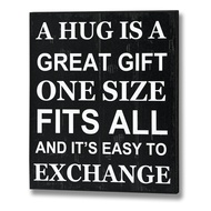 A hug is a great gift Plaque