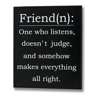 Friend (n) Plaque