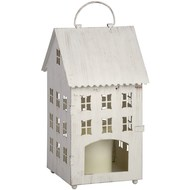 White  Townhouse  Candle  Holder