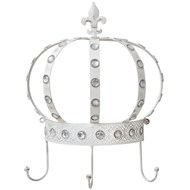 Cream crown-shaped wall hook