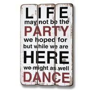 Life may not be the party... Plaque