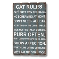 Cat Rules Plaque