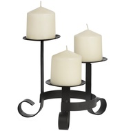 Black  Three  Way  Centrepiece  Candle  Holder