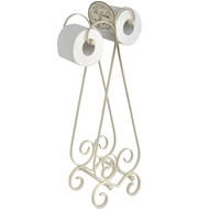 Cream Victorian bathroom toilet roll holder