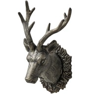 Antique brown small stag hook ornament