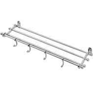 Nickel  Plated  Bathroom  Shelf  With  Hook