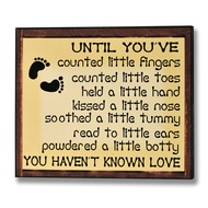 Until  You've  Counted  Little  Fingers...  Plaque