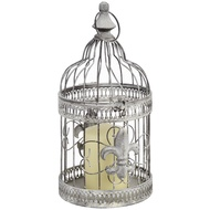 Round  Cream  Distressed  Metal  Birdcages