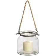 Glass jar with jute handle - 15cm