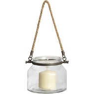 Glass  Jar  With  Jute  Handle  -  12.5cm