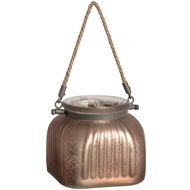 Silver  Champagne  Glass  Jar  With  Jute  Handle