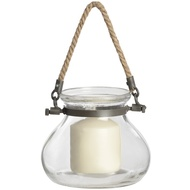 Round Glass Jar with Jute Handle