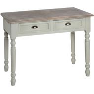 Lyon  Grey  Two  Drawer  Console  Table/desk