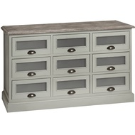 Lyon  Grey  Nine  Drawer  Chest