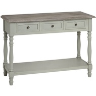 Lyon  Grey  Three  Drawer  Console  Table