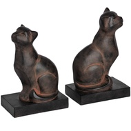 Set  Of  Two  Cat  Bookends