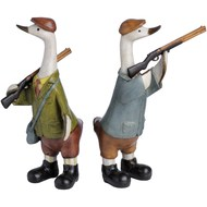 Set of two Shooting Ducks