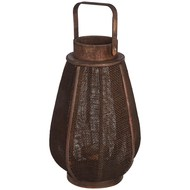 Dark brown oval flax lantern