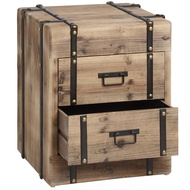 Two drawer wooden chest