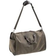 Mock Nubuck Weekend Holdall w/ Fold-Out Suit Carrier (dk)***