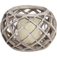 Woven  Glass  Tea  Light  Holder  -  Small  (82-0236)