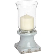 Rustic  Ceramic  Based  Hurricane  Lamp  -  Small