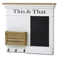 "Hampshire ""This & That"" wall blackboard and organiser"