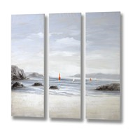 Beachfront canvas - set of three