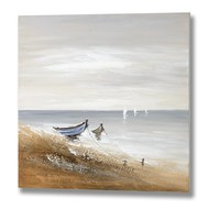 Beached Boats Canvas