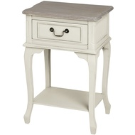 Pavilion  One  Drawer  Bedside  Table  With  Shelf