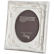 8''x10'' Ornate Antique White Oval Photo Frame