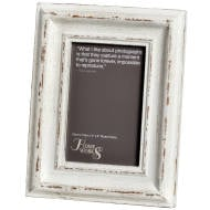 4X6 Distressed White Antique Photo Frame