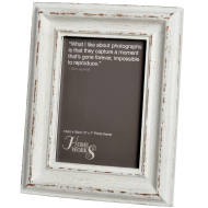 5x7 Distressed White Antique Photo Frame