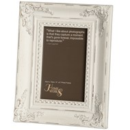 4x6 Antique White Gilded Photo Frame
