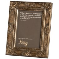 5x7 Antique Gold Gilded Photo Frame