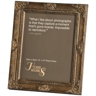 8x10 Antique Gold Gilded Photo Frame
