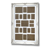 Large, Antique White, Ornate Frame for Multiple Photos
