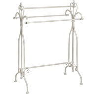 Cream iron towel rack