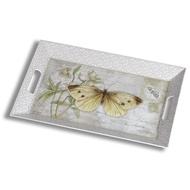 Yellow butterfly large rectangular tray