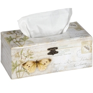 Yellow butterfly tissue box