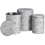 Blue butterfly storage tin - set of three