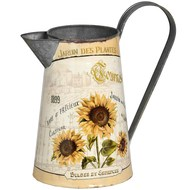 Sunflower metal pitcher