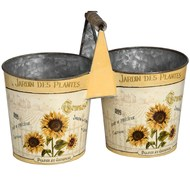 Sunflower cutlery trug